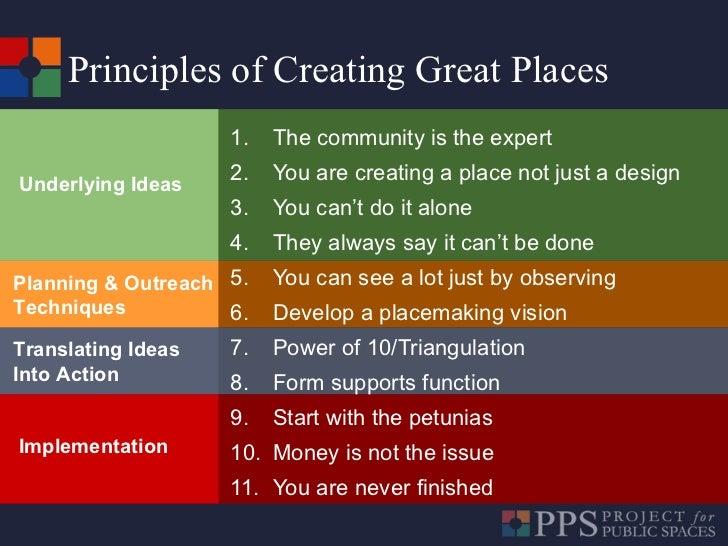 <ul><li>The community is the expert </li></ul><ul><li>You are creating a place not just a design </li></ul><ul><li>You can...