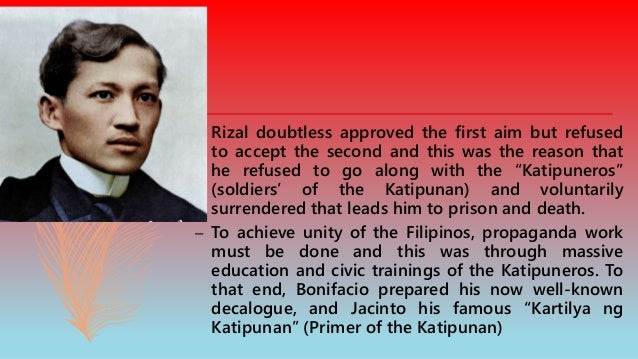 –These are the rules in Kartilya. The Kartilya can be treated as the Katipunan's Code of conduct which contains 14 rules t...