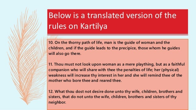 Below is a translated version of the rules on Kartilya 14. When these rules of conduct shall be known to all, the longed-f...