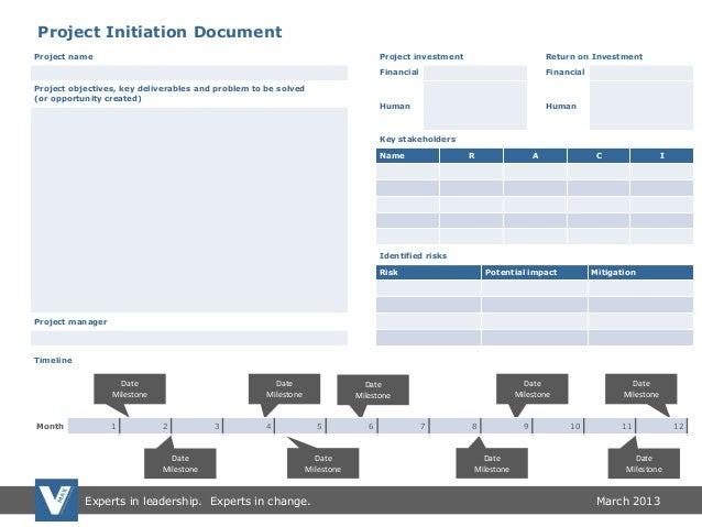 Project Initiation Document And Project Tracking Templates
