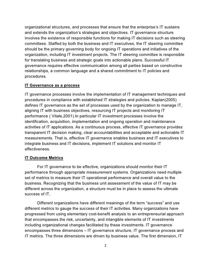 Essay School Uniform Research Paper On Project Management And It Governance  Organizational Good Definition Essays also Techniques In Essay Writing Business Management Research Paper Topics Research Paper On Project  My School Days Essay