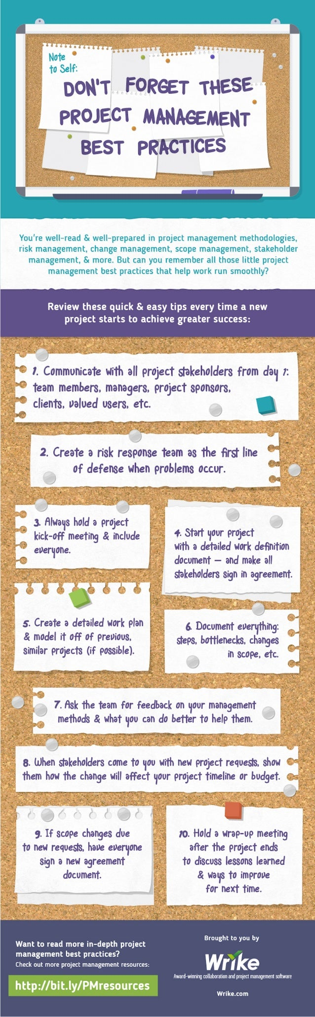 10 Project Management Best Practices (Infographic)