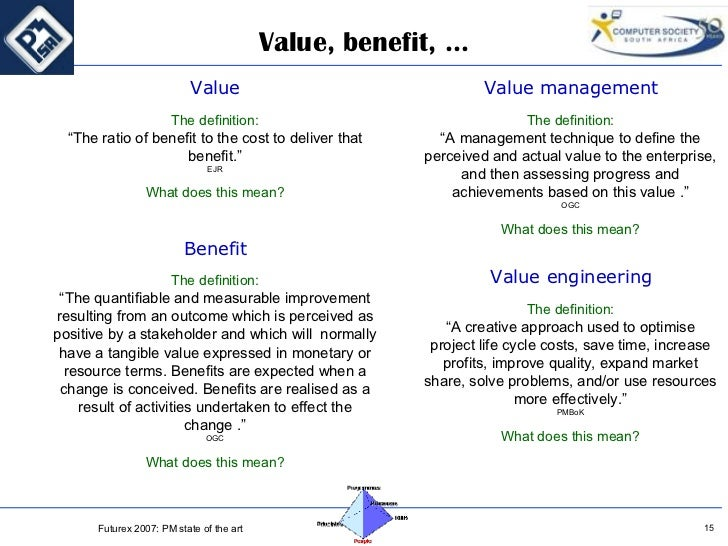 managing the co creation value Value creation is the primary aim of any business entity creating value for customers helps sell products and services, while creating value for shareholders, in the form of increases in stock price, insures the future availability of investment capital to.