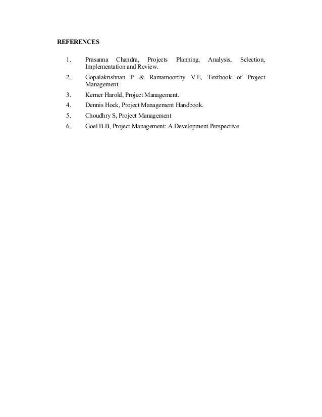 Prasanna Chandra Project Management Book