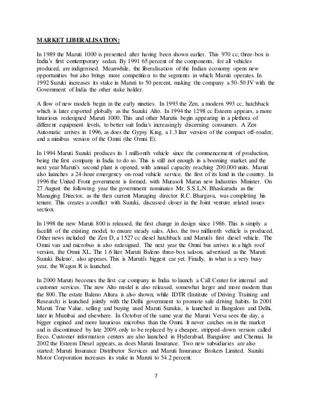 Project on marketing strategy of maruti suzuki