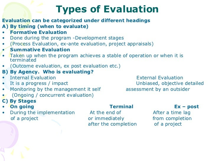 Project Monitoring Evaluation – Project Evaluation