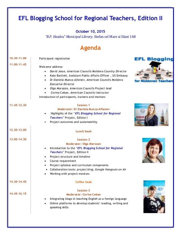 "EFL Blogging School for Regional Teachers, Edition II October 10, 2015 ""B.P. Hasdeu"" Municipal Library, Stefan cel Mare si..."