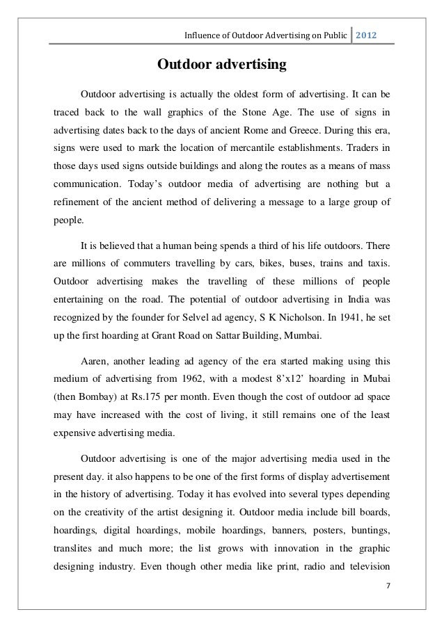 Age of advertisement essay
