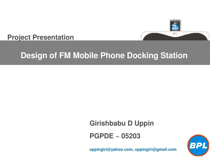 Project Presentation by Girishbabu D Uppin