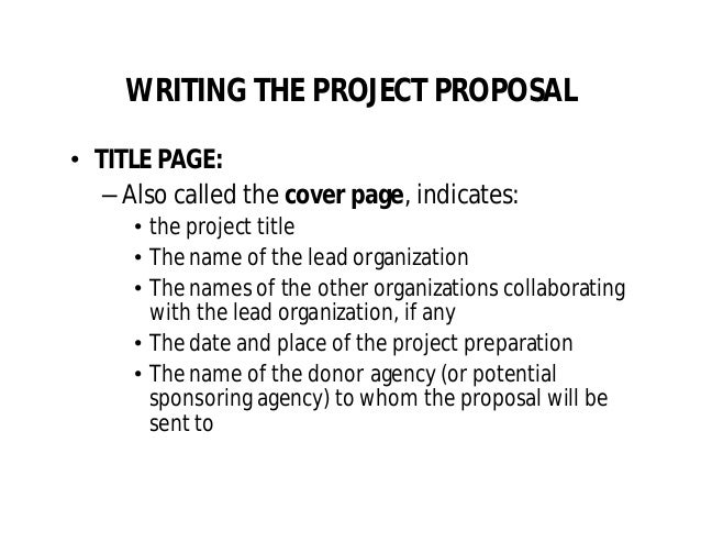 project proposal title page
