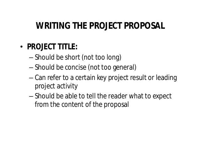 Project Proposal Writing By Oji Ogbureke