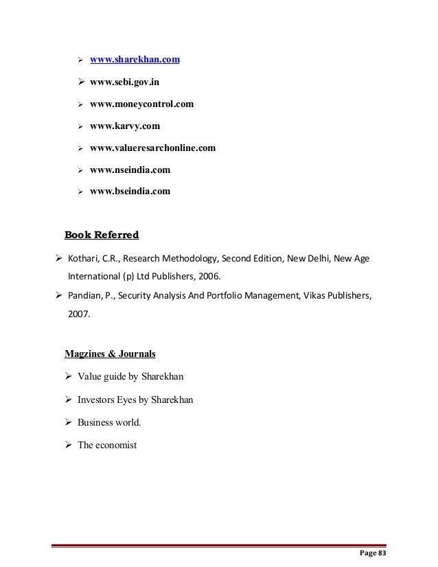 interpretation of portfolio management in sharekhan ltd Watermelon management services pvt ltd  sharekhan ltd  keyskills financial models financial analysis accounting analysis and interpretation of.