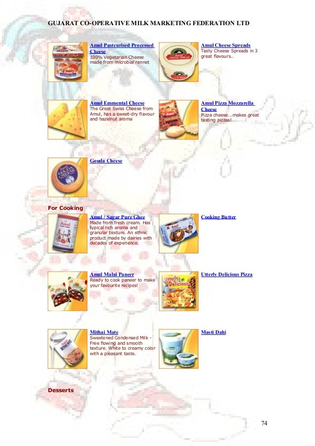 marketing report on amul Amul products have been in use in millions of homes since 1946amul butter, amul milk powder, amul ghee, amulspray, amul cheese,amul chocolates, amul shrikhand, amul ice cream, nutramul.