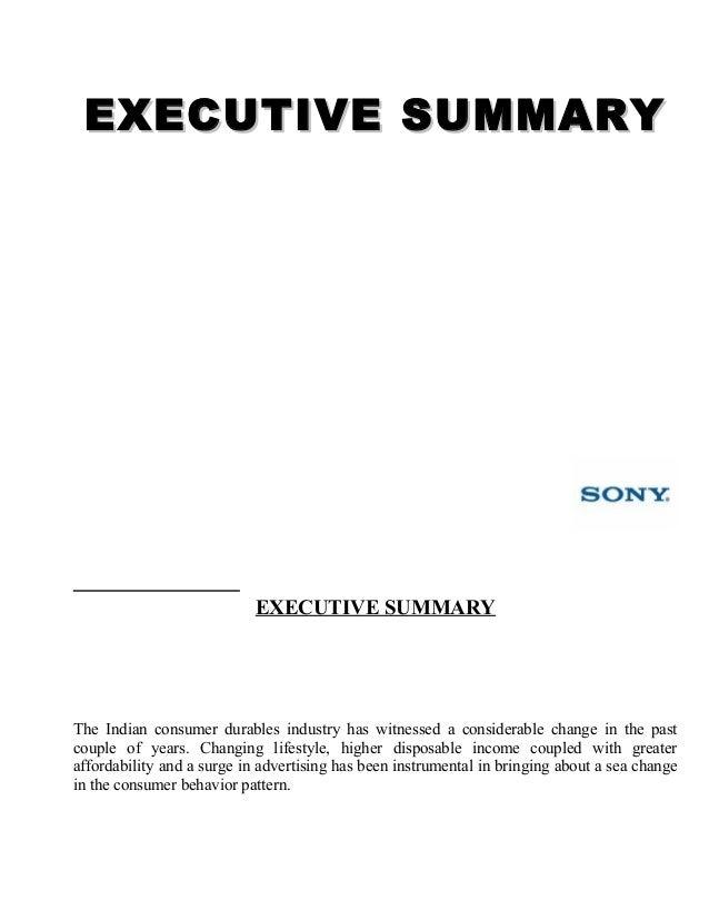 Sony Corporation Executive Summary