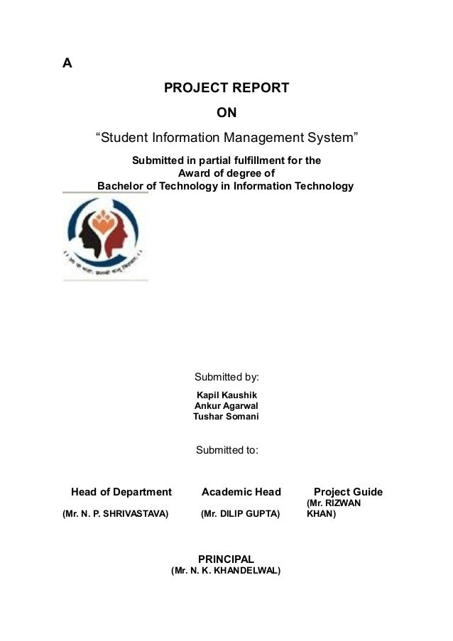 Thesis system for it students