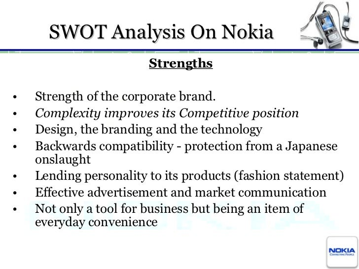 Case study swot analysis nokia