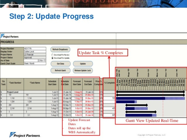Update Project and Task Progress for Oracle EBS Projects in