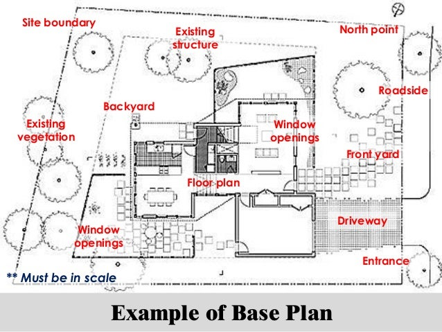 Project 2 Landscape Project Site Analysis – Site Plan Example