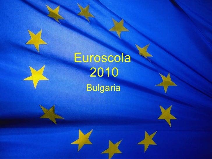 Euroscola  2010 Bulgaria