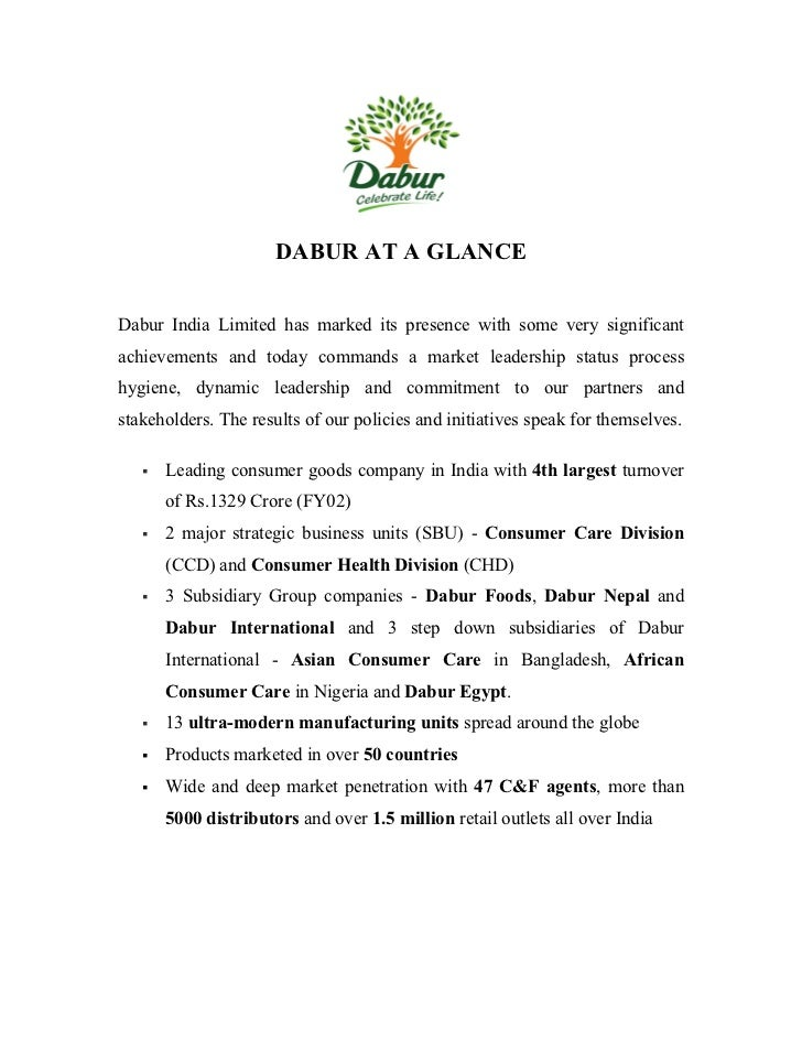 hr policies of dabur Under a programme 'applause' dabur is recognising employees in  dabur india  executive director (human resource) a sudhakar said.