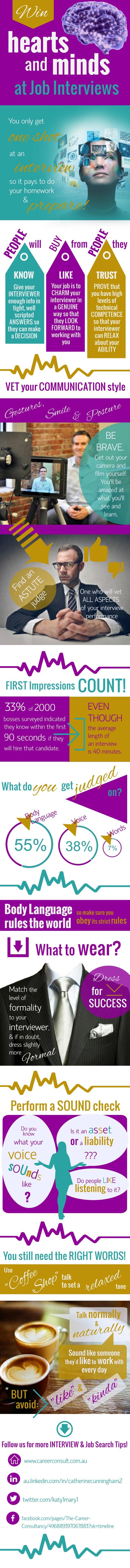 Win Hearts and Minds at Job Interviews