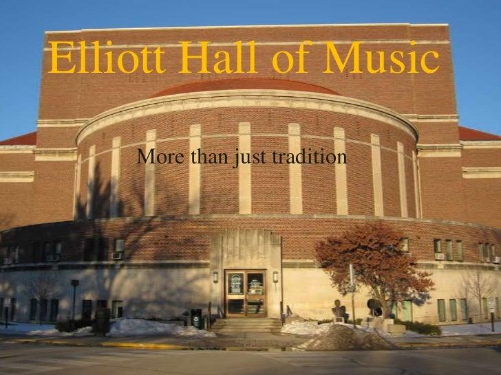 Purdue's Elliott Hall of Music