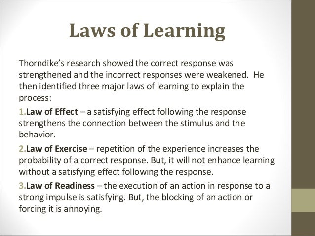 THORNDIKE LAWS OF LEARNING EPUB DOWNLOAD