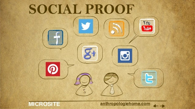 MICROSITE anthropologiehome.com SOCIAL PROOF