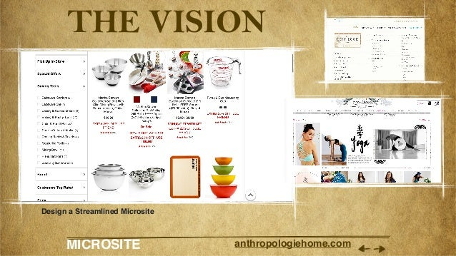 MICROSITE anthropologiehome.com THE VISION Design a Streamlined Microsite