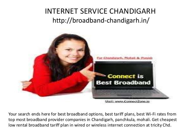 INTERNET SERVICE CHANDIGARH http://broadband-chandigarh.in/ Your search ends here for best broadband options, best tariff ...