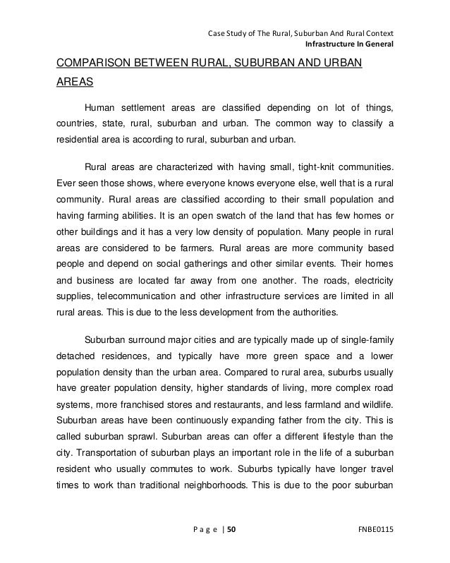 essay on difference between urban and rural life Differences between rural and urban schools, student characteristics, and student aspirations in ohio j david mccracken1 the ohio state university jeff david t barcinas2 university ofguam abstract  urban schools, student characteristics, and student aspirations in ohio.