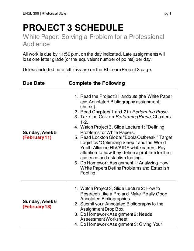 online engl309 sp17 project 3 schedule