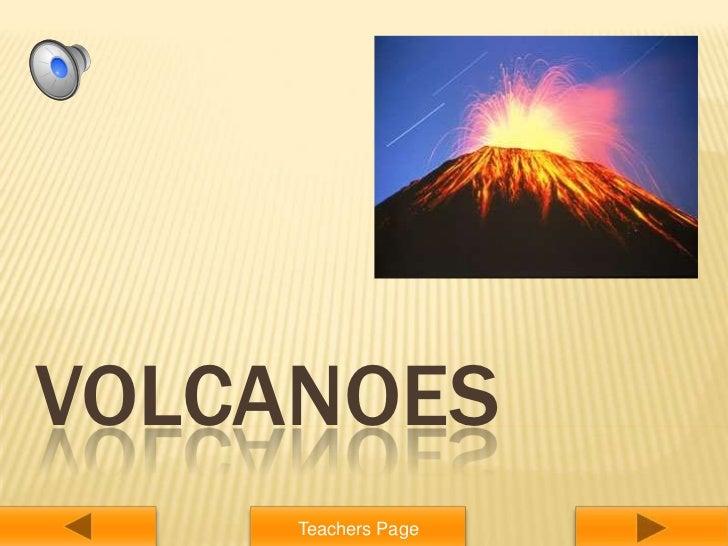 VOLCANOES     Teachers Page