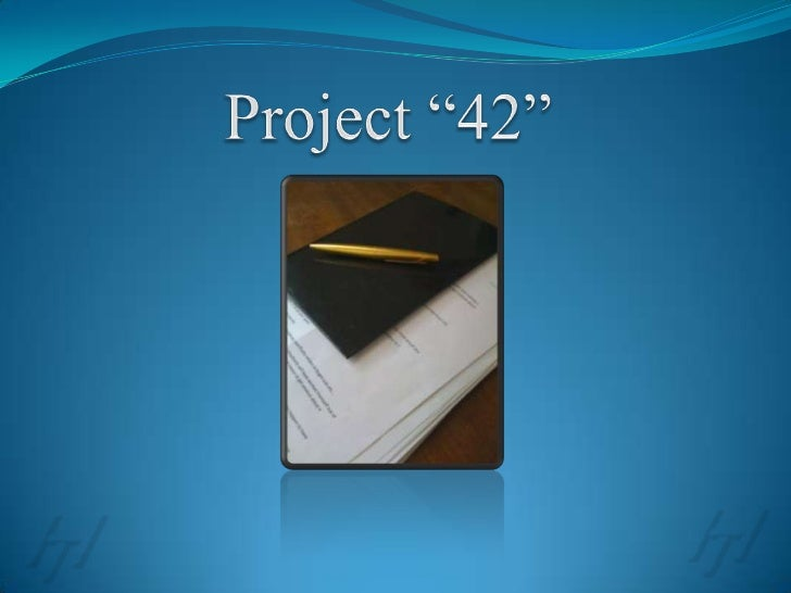 """Project """"42""""<br />"""