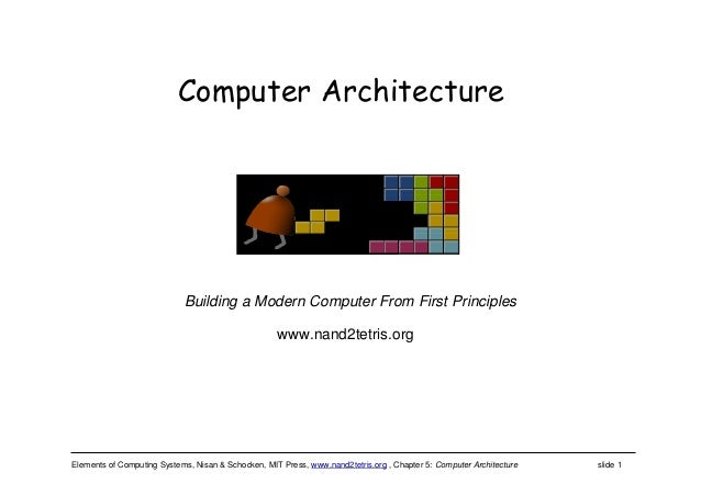 Elements of Computing Systems, Nisan & Schocken, MIT Press, www.nand2tetris.org , Chapter 5: Computer Architecture slide 1...