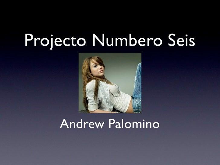 Projecto Numbero Seis    Andrew Palomino