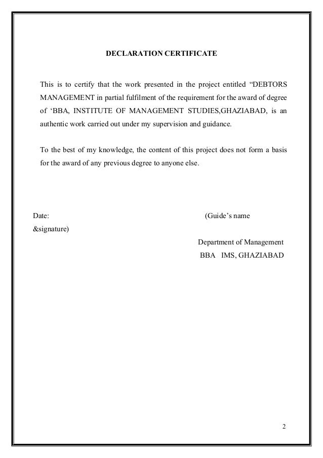 research project submitted in partial fulfillment of the requirement for the award of the degree in  A research project report on attrition management submitted in partial  fulfillment for the requirement of the mba degree awarded by.
