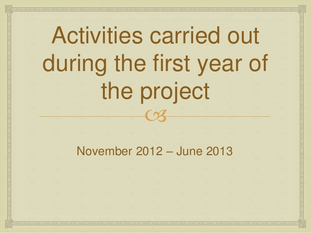 activities being carried out in school and class Some activities work better with one class than another, others are being tried out for the first time monitoring offers the teacher the opportunity to assess the success of an activity and to get feedback from the learners.