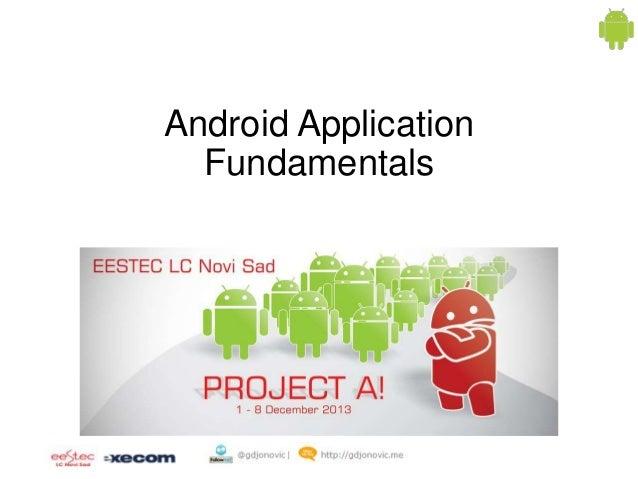 Android Application Fundamentals