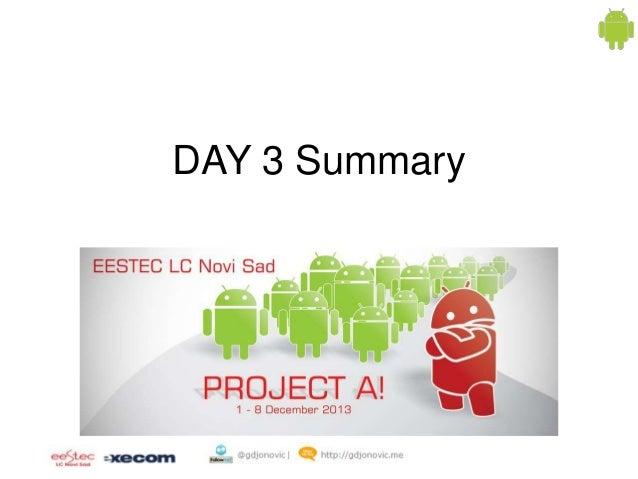 DAY 3 Summary