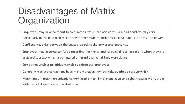 advantages and disadvantages of dhl matrix structure Matrix organizational structures propose two management structures in single  organization: a functional structure, which may be hierarchical.