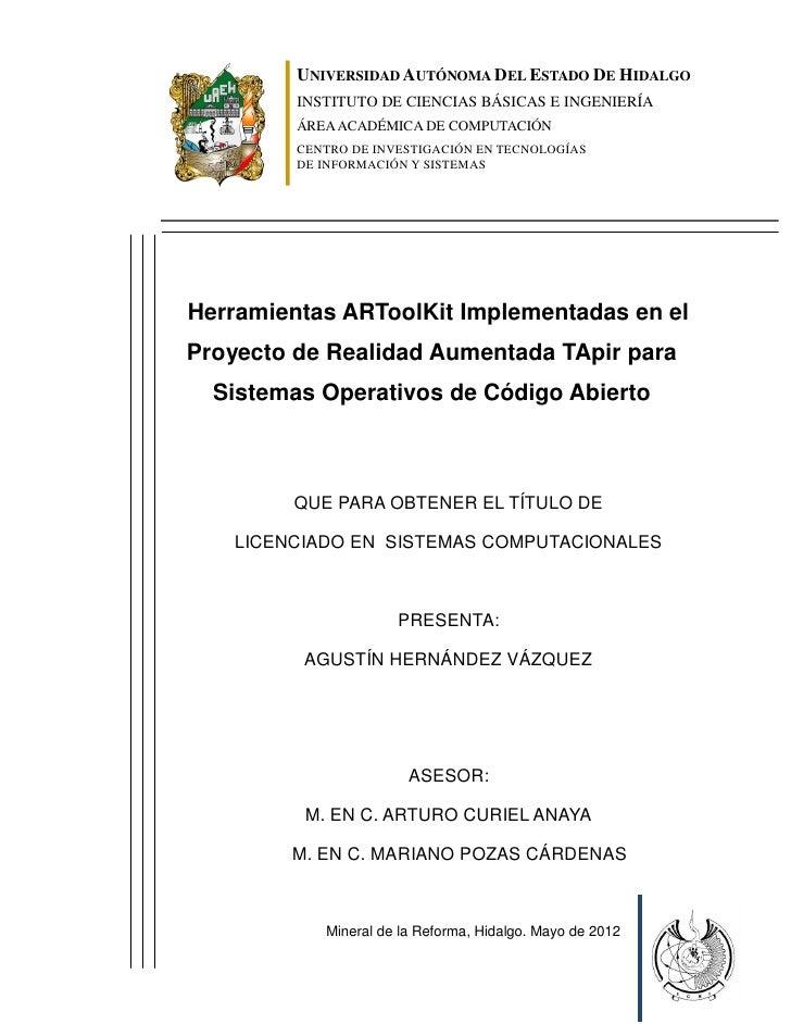 UNIVERSIDAD AUTÓNOMA DEL ESTADO DE HIDALGO         INSTITUTO DE CIENCIAS BÁSICAS E INGENIERÍA         ÁREA ACADÉMICA DE CO...