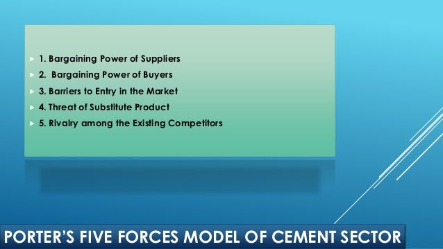 Cement Industry Five Forces Model : Capital budgeting process