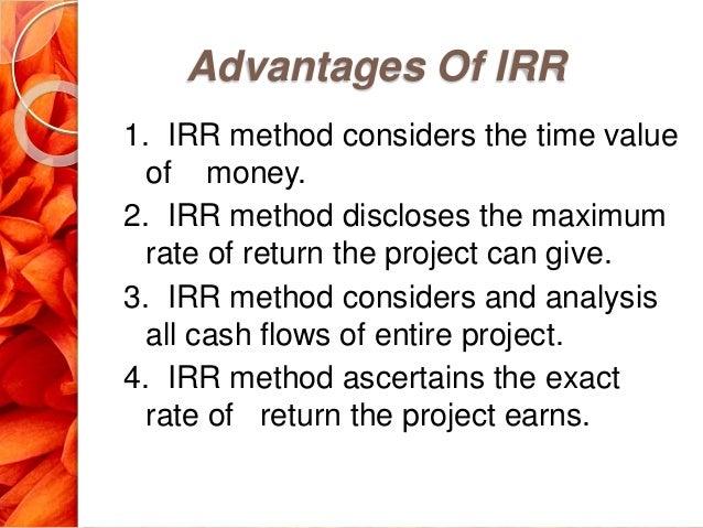 advantages of irr
