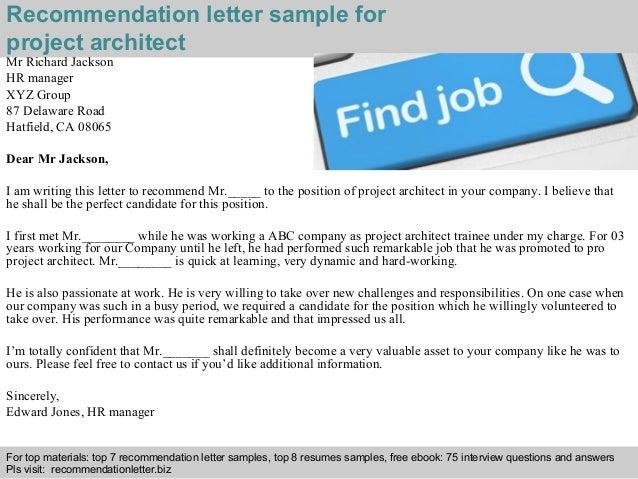 job recommendation letter sample