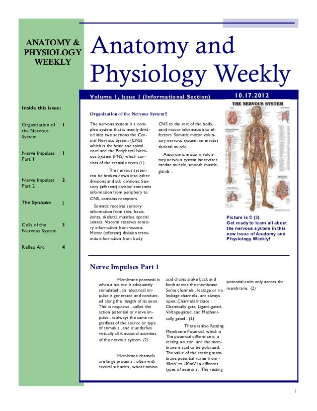 ANATOMY &PHYSIOLOGY  WEEKLY                         Anatomy and                         Physiology Weekly                 ...