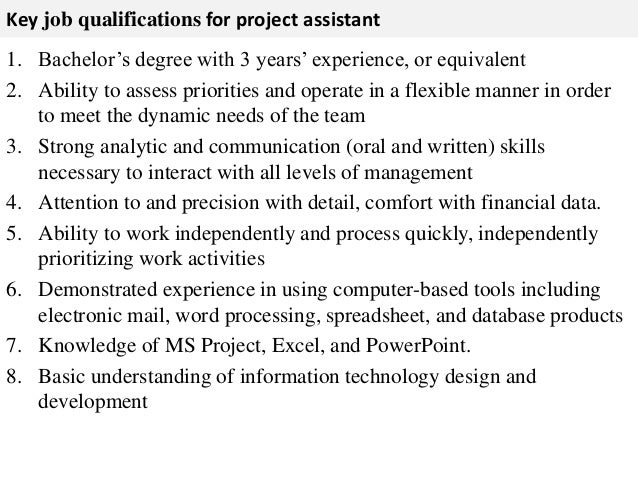 Superior 3. Key Job Qualifications ... Intended Job Qualifications