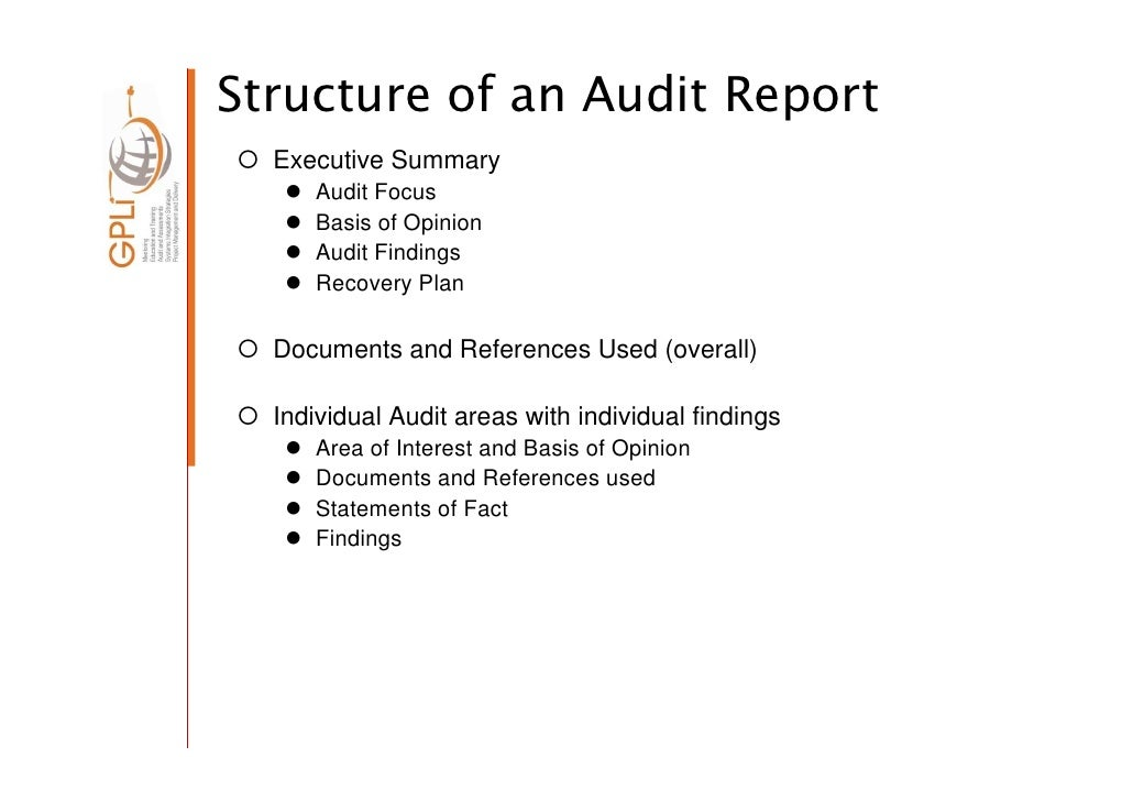 ... 21. Structure Of An Audit Report ...  External Audit Report Template