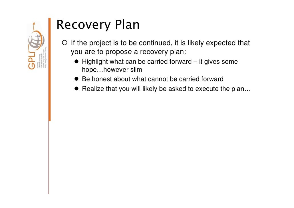 How To Do A Project Audit - Project recovery plan template