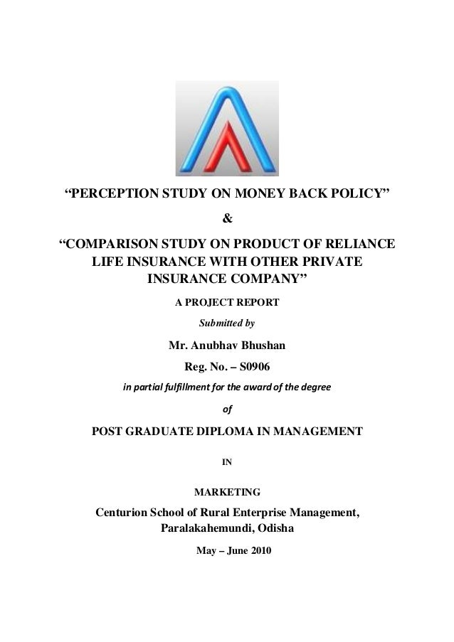 free project report on customer perception on reliance life insurance company I want finance project on life insurance company i want reliance life insurance project report hdfc life insurence, customer perception about.